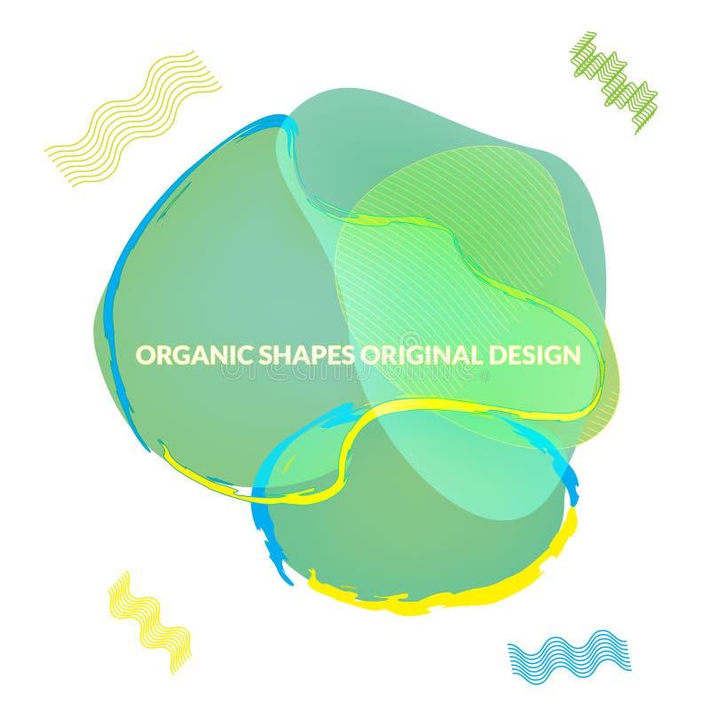 Rzadkopłynny Dynamiczny kształta Wektorowy projekt ilustracja wektor