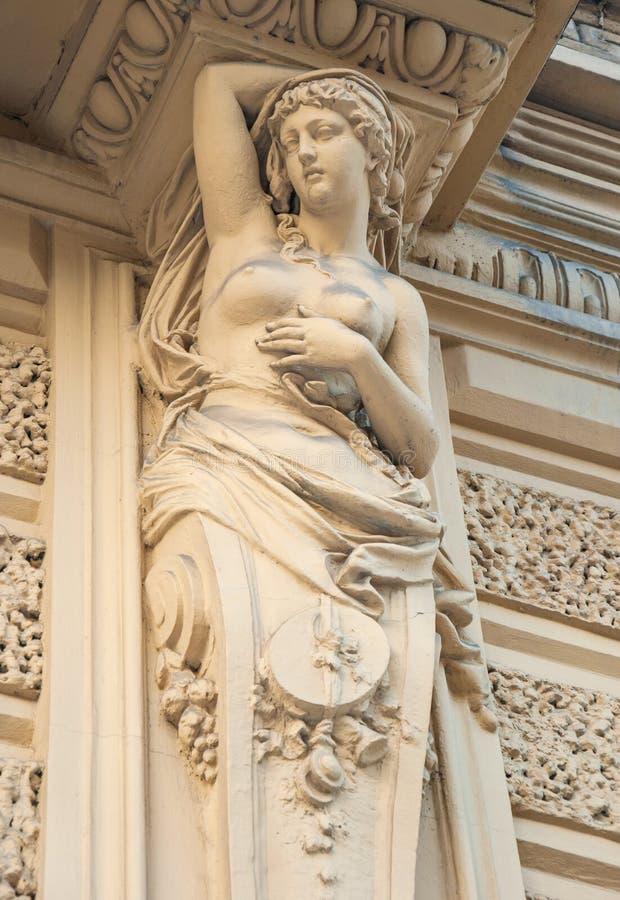 Rzeźb kariatydy zdjęcie stock