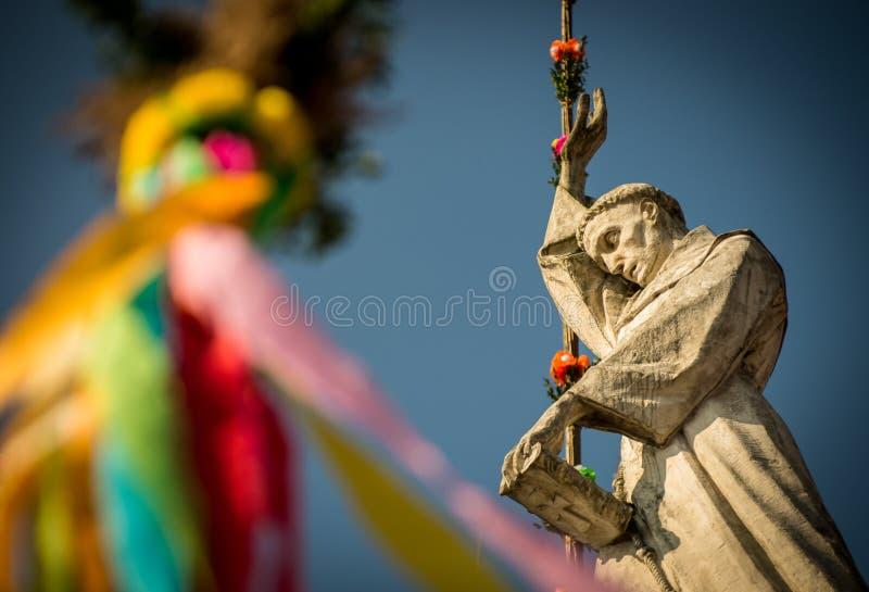 Rzeźba świętego Simons ` wielkanocy palmy obrazy stock