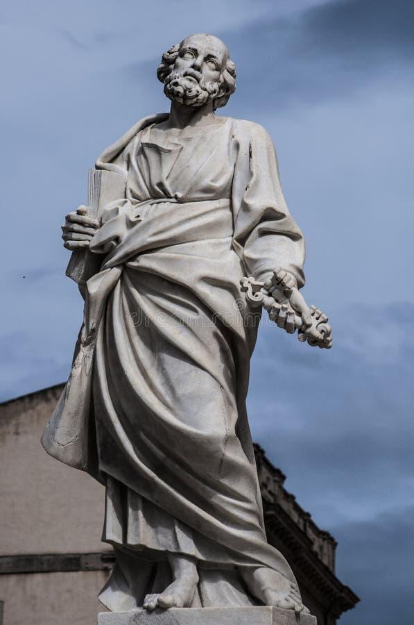 Rzeźba święty Peter obraz royalty free