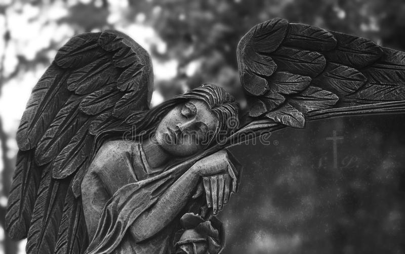 Rzeźba anioł obrazy royalty free