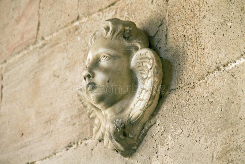 Rzeźba anioł twarz zdjęcie stock