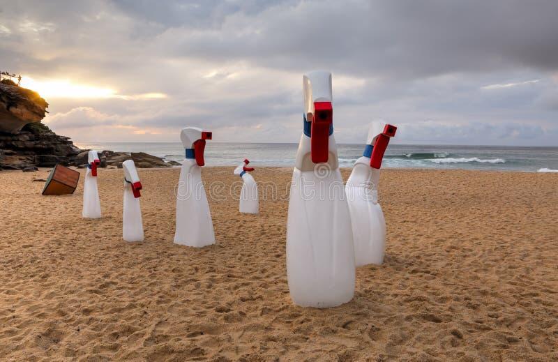 Rzeźba Dennym Bondi - butelki zdjęcie royalty free