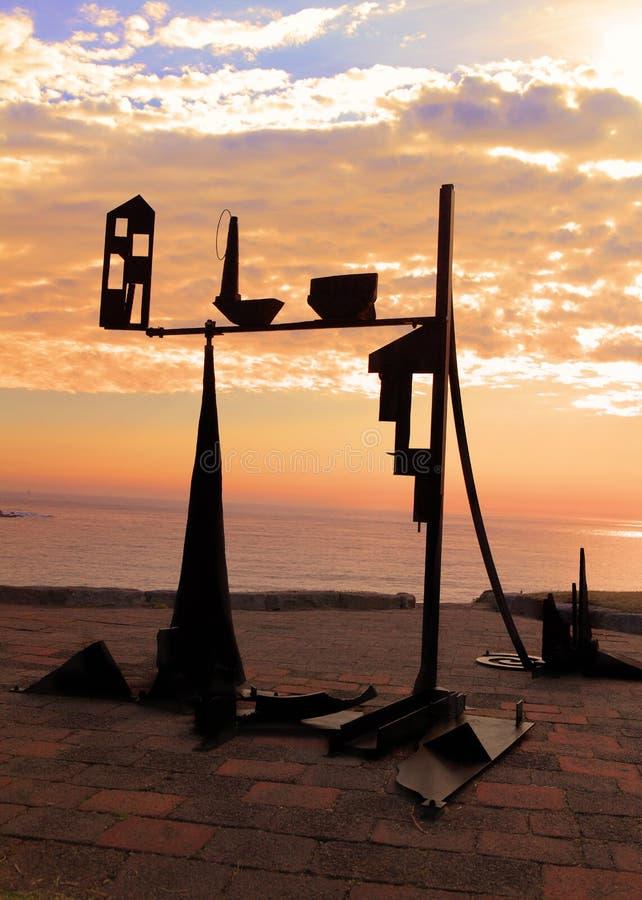 Rzeźba Dennym eksponatem obrazy royalty free