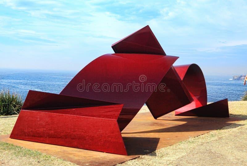 Rzeźba Dennym eksponatem przy Bondi obrazy royalty free