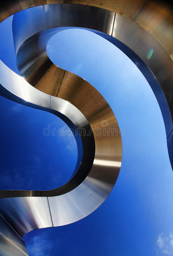 Rzeźba Dennym eksponatem przy Bondi obraz royalty free