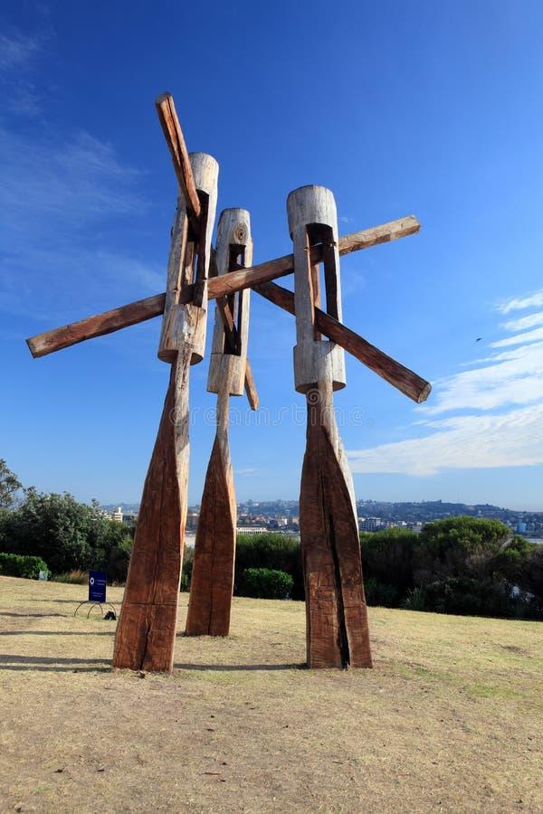 Rzeźba Dennym eksponatem przy Bondi Australia zdjęcie stock