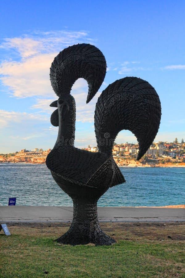 Rzeźba Dennym eksponatem przy Bondi Australia obraz stock