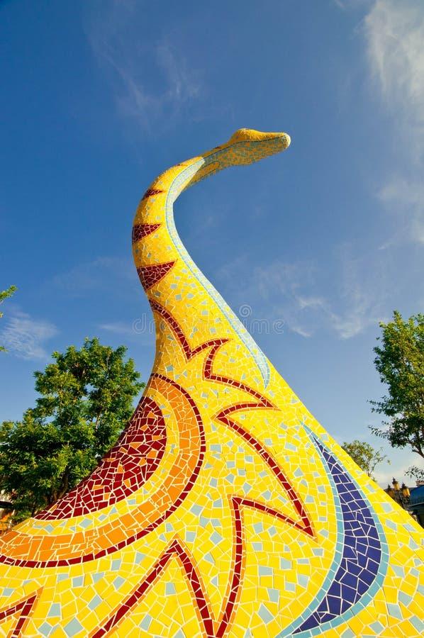 Rzeźba dinosaur zdjęcia stock
