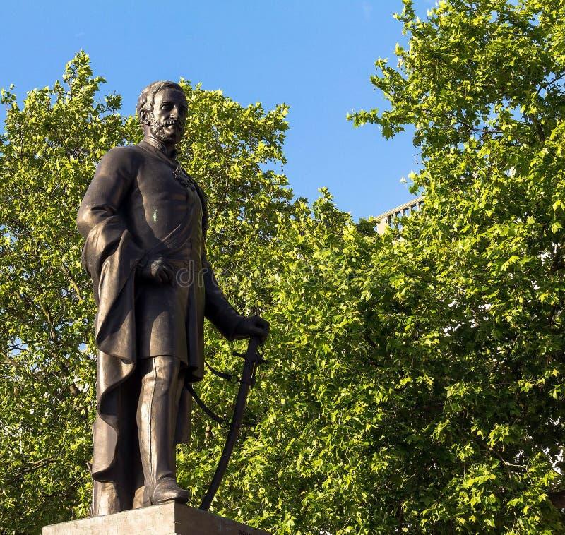 Rzeźba generała dywizji Sir Henry Havelock na Trafalgar kwadracie, Londyn, 2015 obrazy royalty free