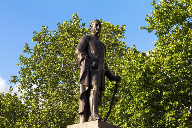 Rzeźba generała dywizji Sir Henry Havelock na Trafalgar kwadracie, Londyn, 2015 zdjęcia royalty free