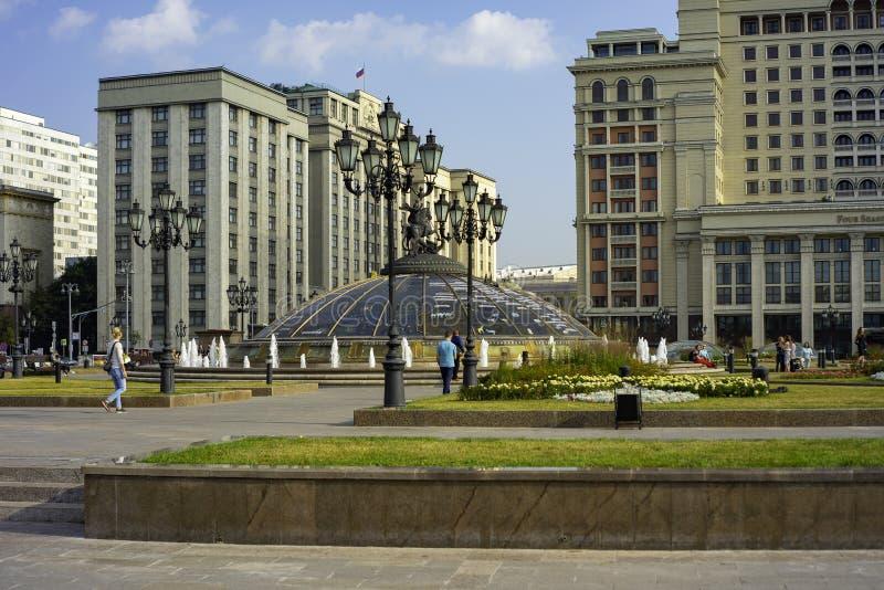 Rzeźba George Stan duma Federacyjny zgromadzenie federacja rosyjska Rosja zdjęcie royalty free