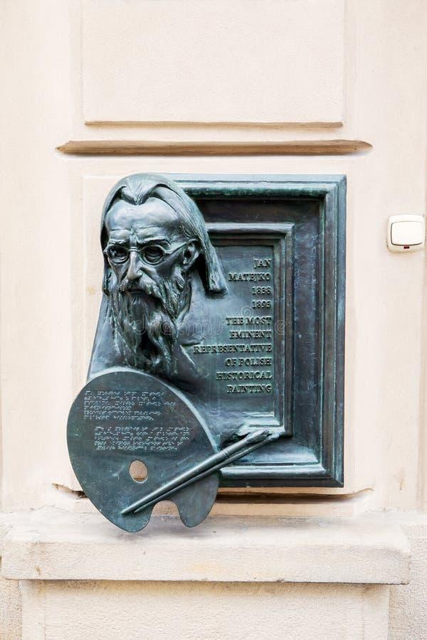 Rzeźba Jan Matejko obraz stock