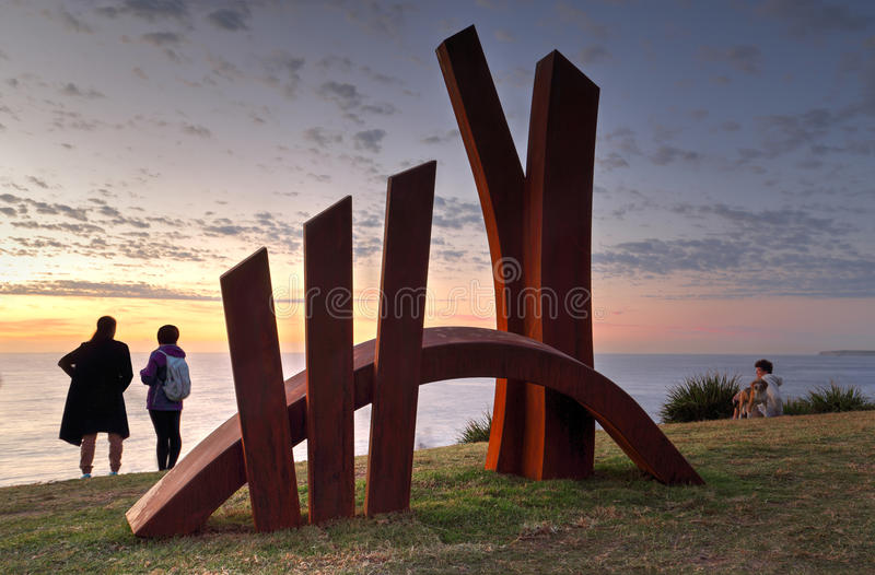 Rzeźba morzem - most zdjęcie royalty free