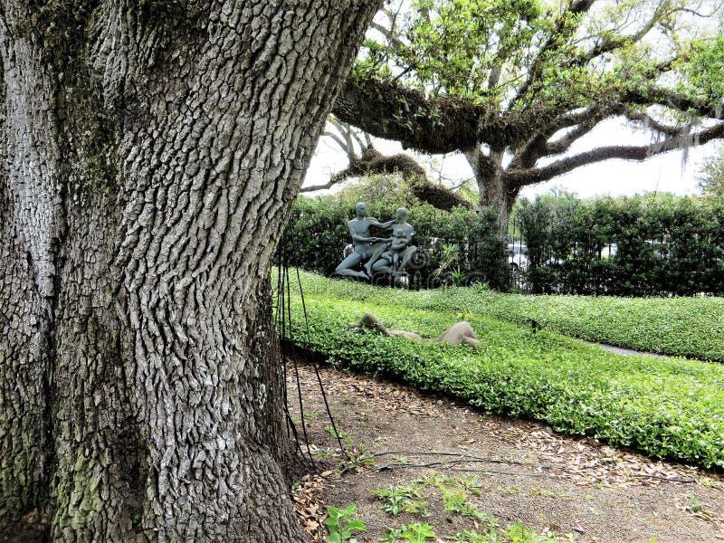 Rzeźba, Nowy Orlean ogród botaniczny zdjęcia royalty free