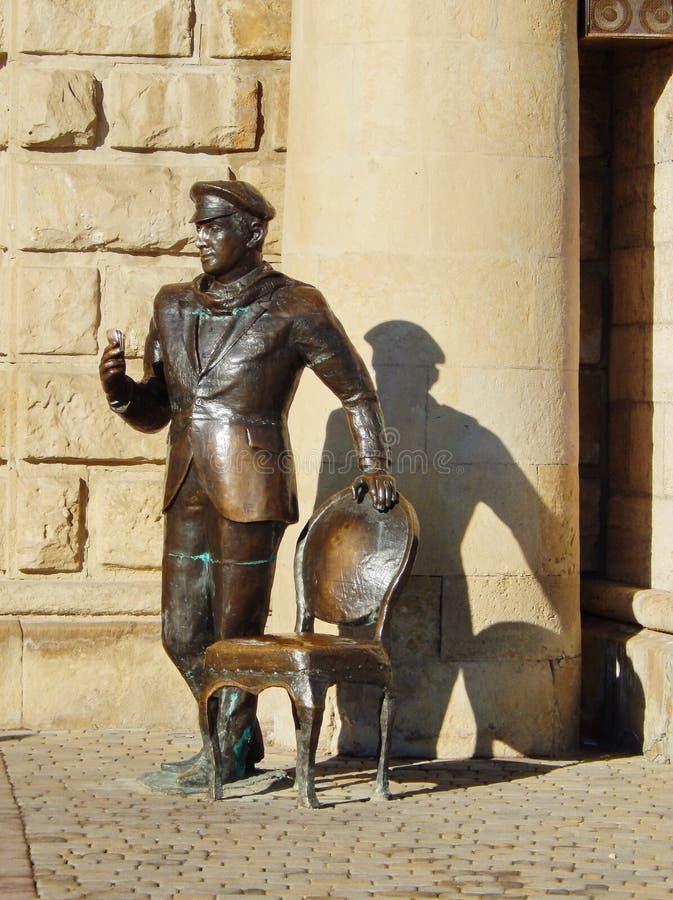Rzeźba Ostap gięciarka przy wejściem Proval w Pyatigorsk, Rosja zdjęcie royalty free