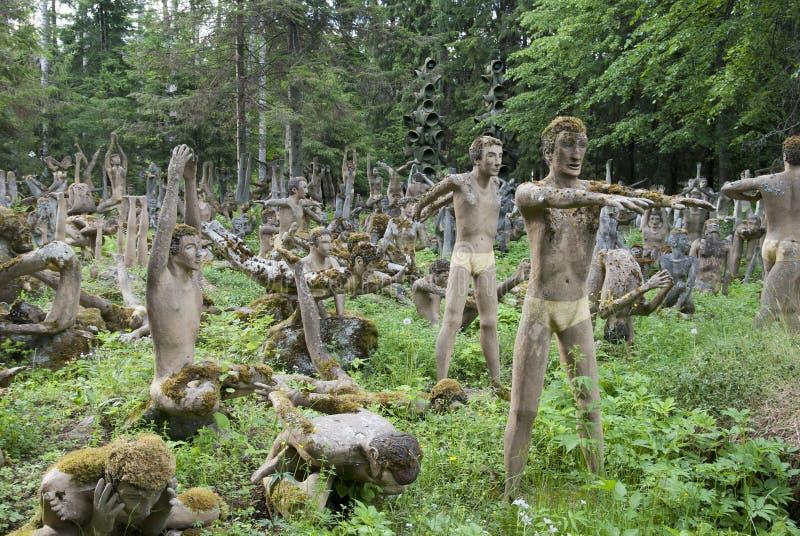 Rzeźba park Veijo Rönkkönen zdjęcia stock