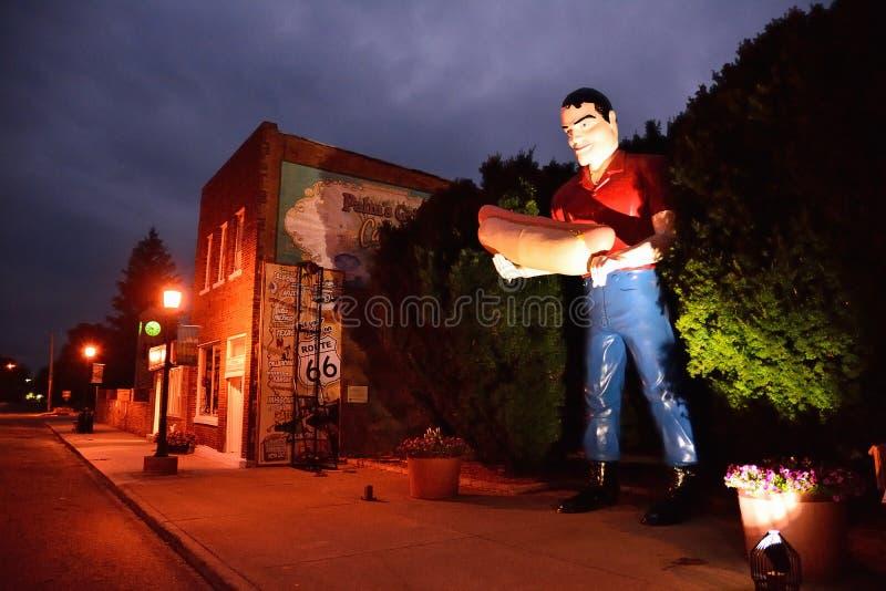 Rzeźba Paul Bunyon gigantyczny mężczyzna obraz stock