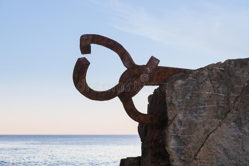 Rzeźba Peine De Los Vientos fotografia stock
