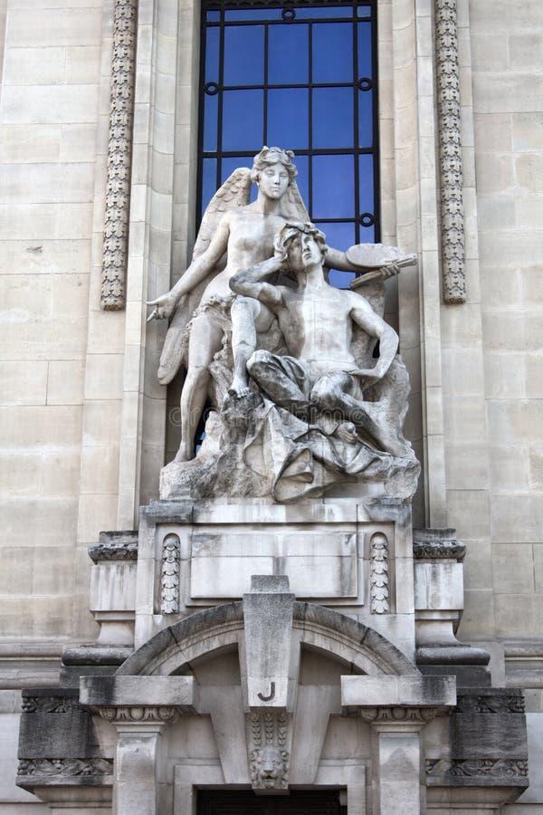 Rzeźba poeta i jego geniusz fotografia stock