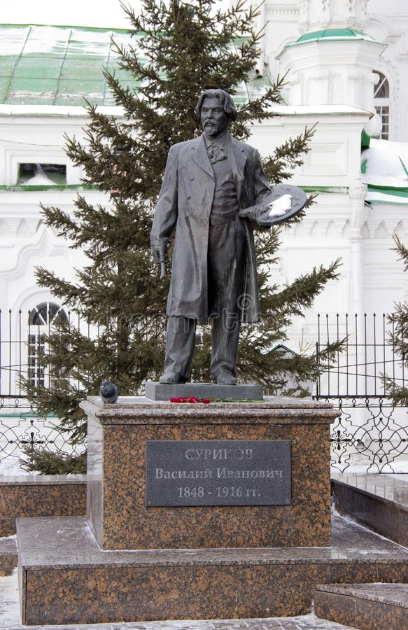 Rzeźba Rosyjskim artystą Surikov fotografia royalty free
