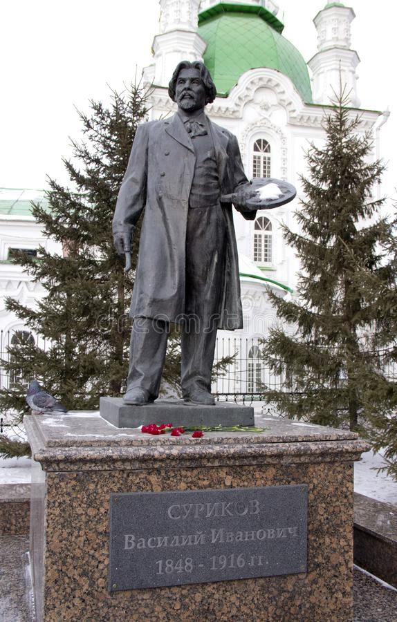 Rzeźba Rosyjskim artystą Surikov obrazy stock