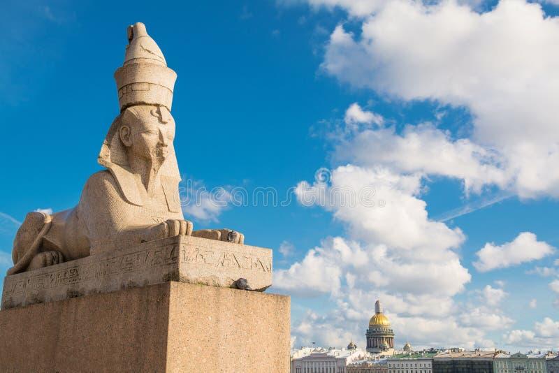 Rzeźba sfinks w St Petersburg obraz royalty free