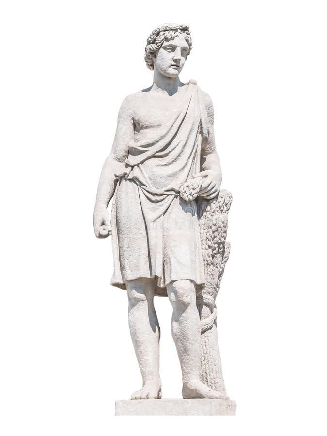 Rzeźba starożytnego grka bóg Adonis zdjęcia stock
