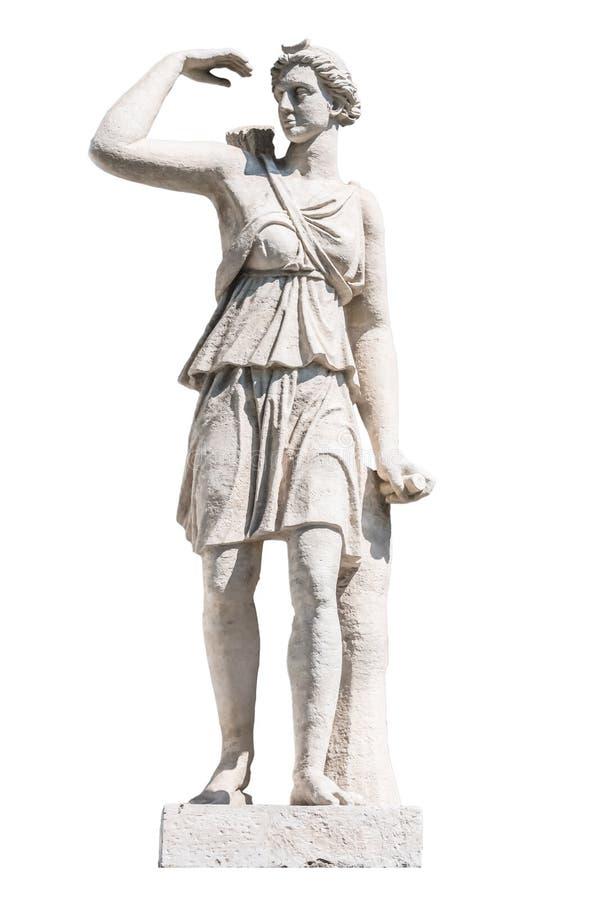 Rzeźba starożytnego grka bóg Artemis zdjęcia royalty free