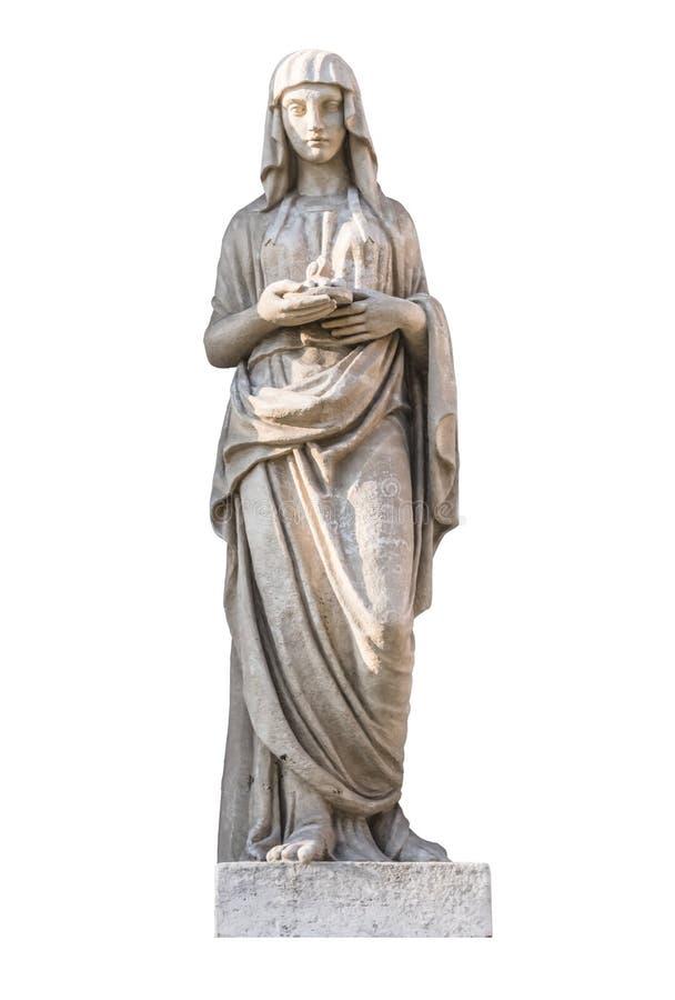 Rzeźba starożytnego grka bóg Vestalka fotografia royalty free