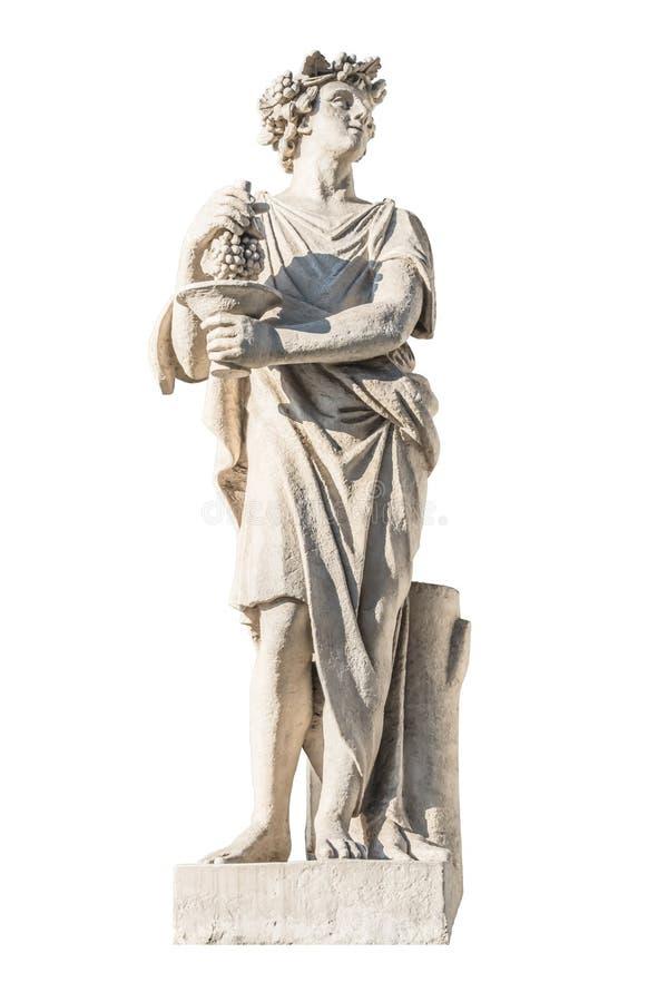 Rzeźba starożytnego grka boga Bacchus zdjęcia royalty free