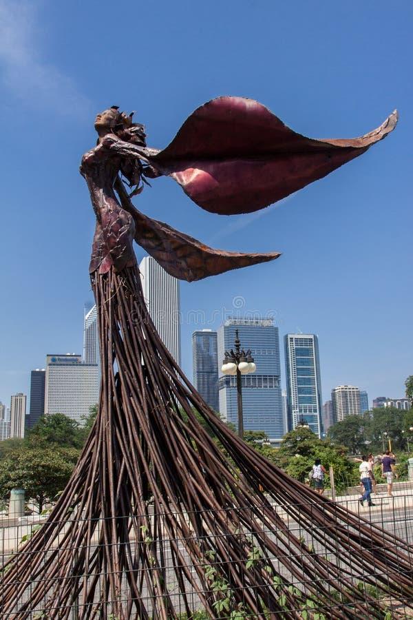 Rzeźba w Chicago zdjęcie royalty free