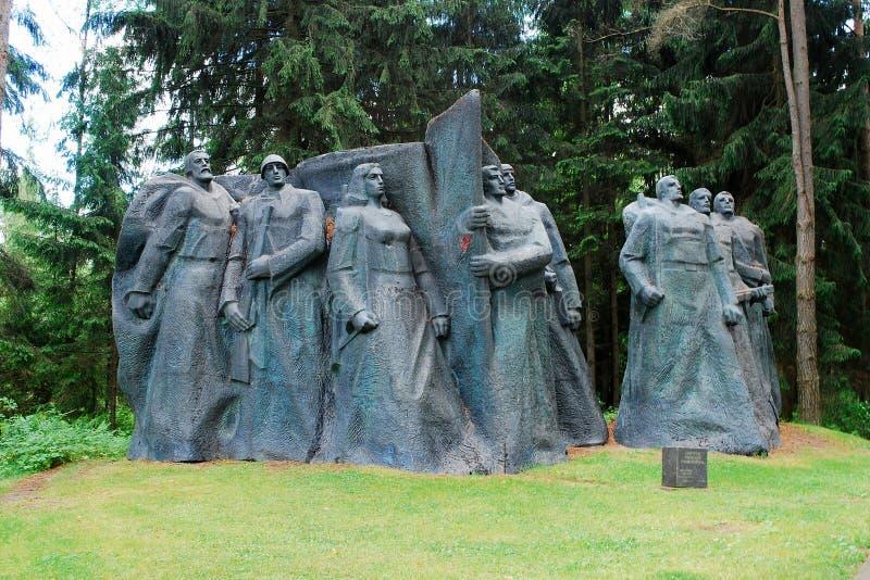 Rzeźba w Grutas parku blisko Druskininkai miasta zdjęcie stock