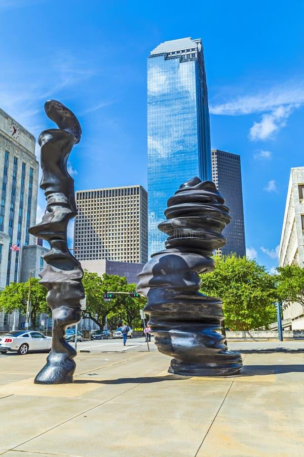 Rzeźba w Houston obraz royalty free