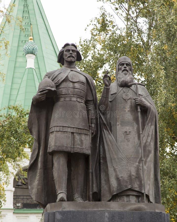 Rzeźba w kościelnym, nizhny novgorod, federacja rosyjska fotografia stock
