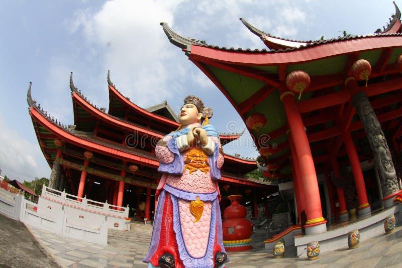 Rzeźba w Sam poo kong świątyni fotografia royalty free