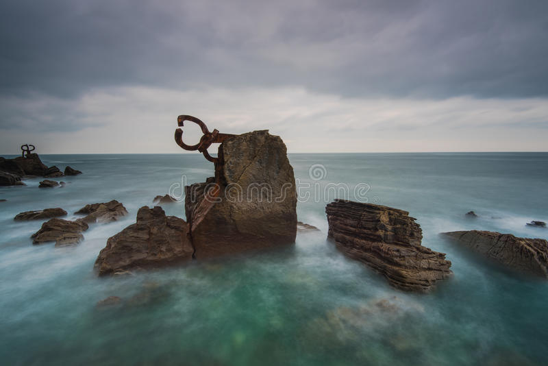 Rzeźba w San Sebastian, Hiszpania obrazy royalty free