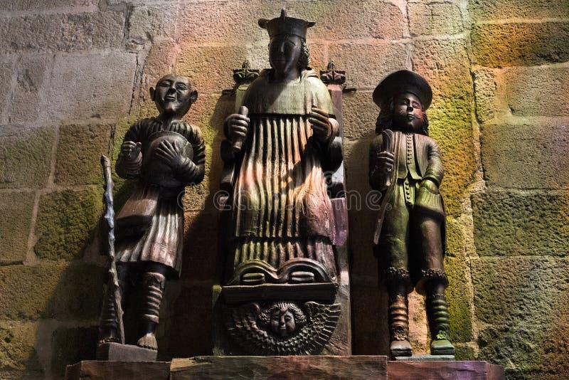 Rzeźba w Treguier katedrze, Francja obrazy royalty free
