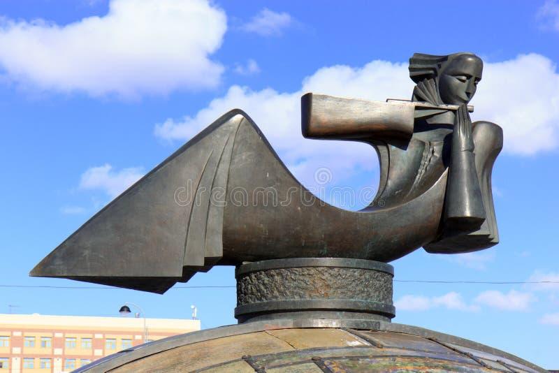 Rzeźba w Tyumen, Rosja obraz stock