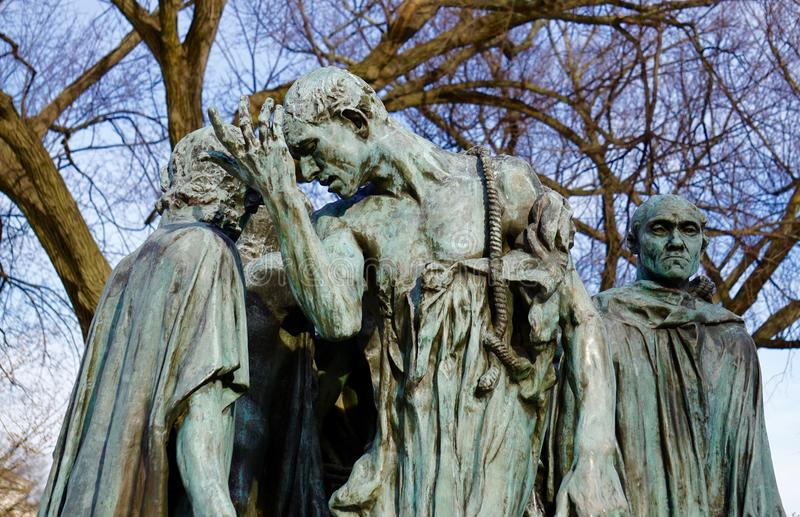 Rzeźba w zimie obrazy royalty free