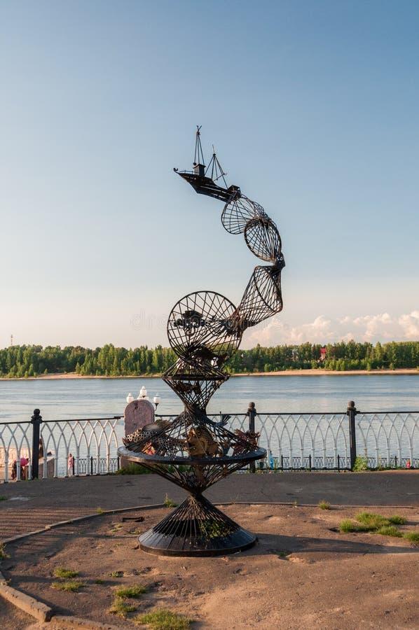 rzeźba Widok ulicy stary Rosyjski miasto zdjęcie royalty free