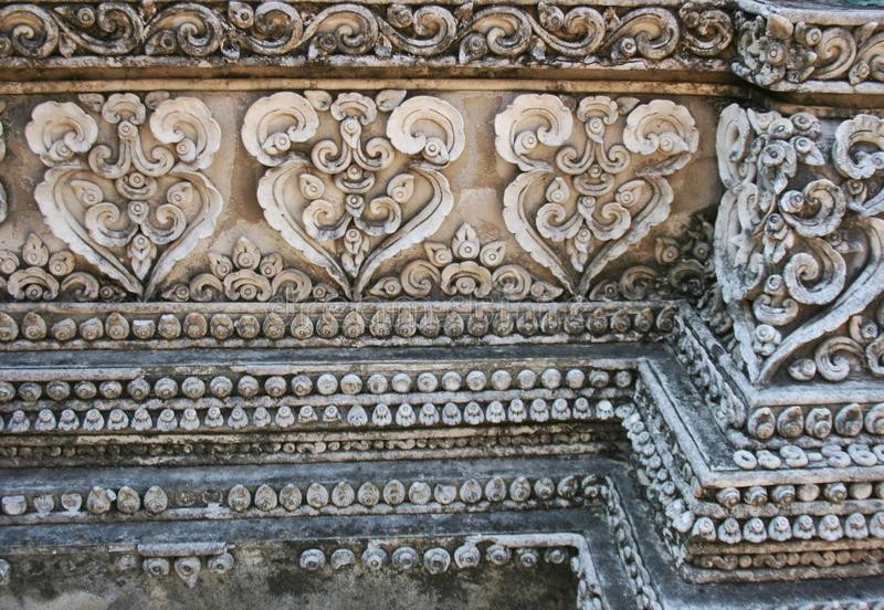 Rzeźba wzoru stylu lanna w Chiang mai Tajlandia obrazy royalty free