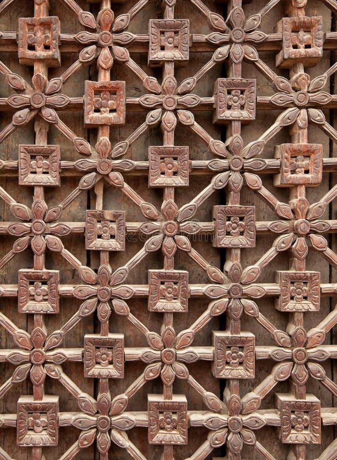 Rzeźbiący Drewniany Latticework fotografia stock