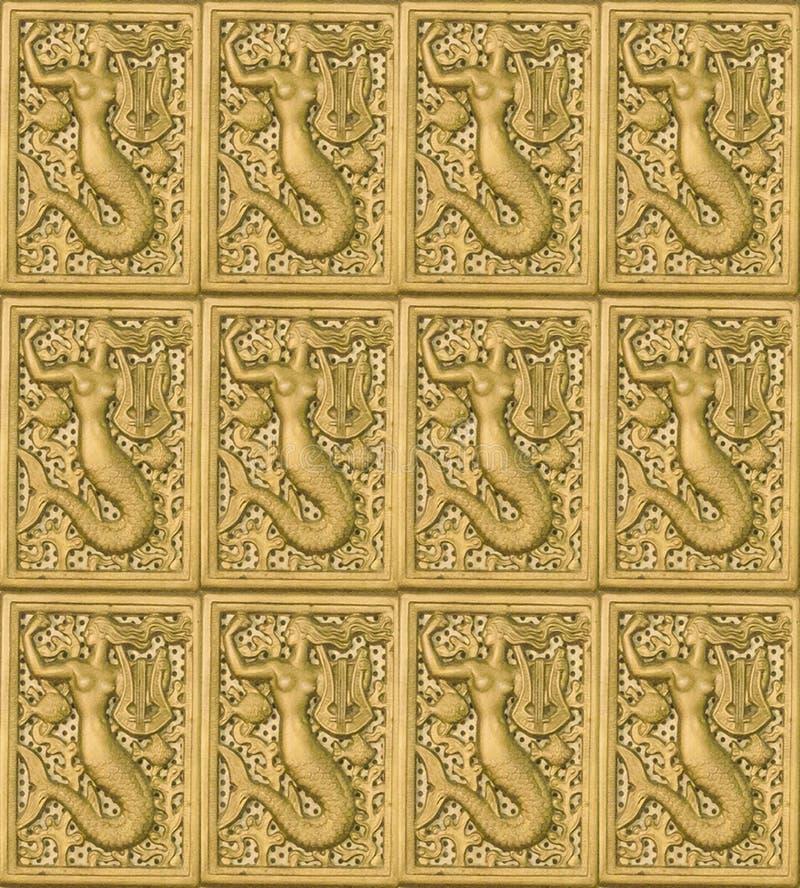 Rzeźbiący Symboliczny motyw mozaiki wzór fotografia stock