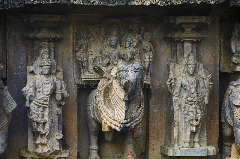 Rzeźbiący zewnętrzny widok Kopeshwar świątynia, Khidrapur, maharashtra obrazy royalty free