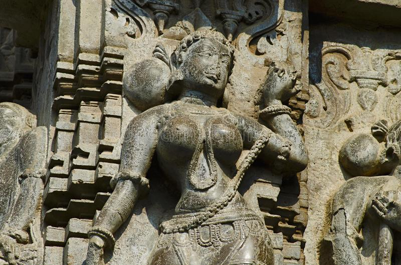 Rzeźbiący zewnętrzny widok Kopeshwar świątynia, Khidrapur, maharashtra zdjęcie royalty free
