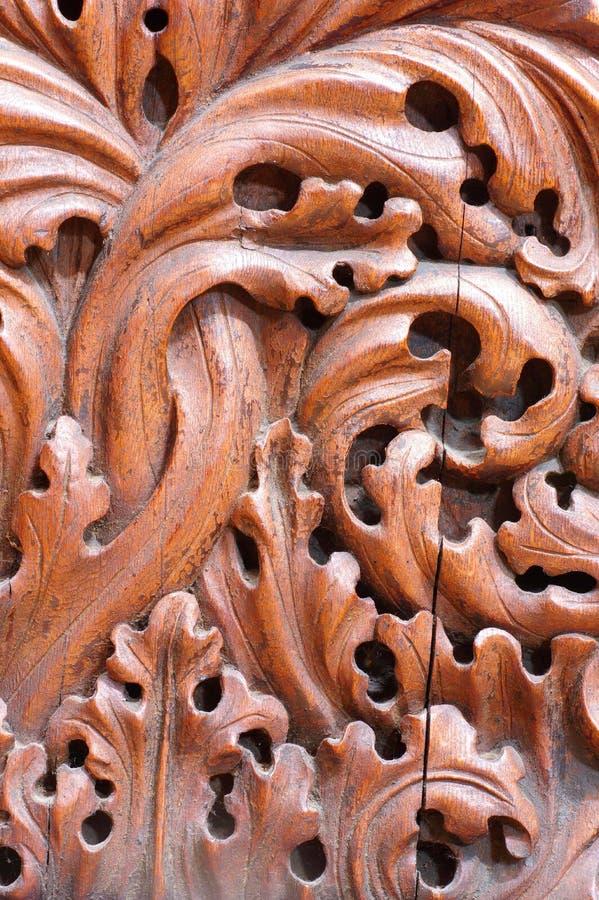 Rzeźbić kościelnej ławki szczegół obrazy royalty free