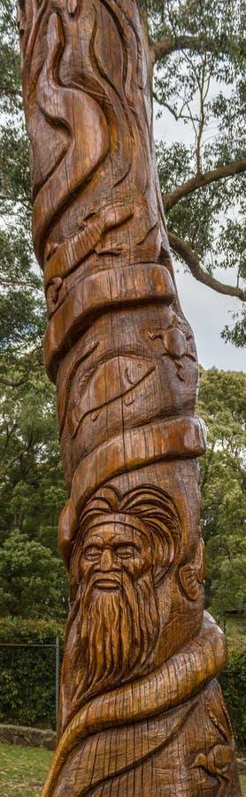 Rzeźbić na drzewie przy SkyHigh w Dandedong fotografia stock