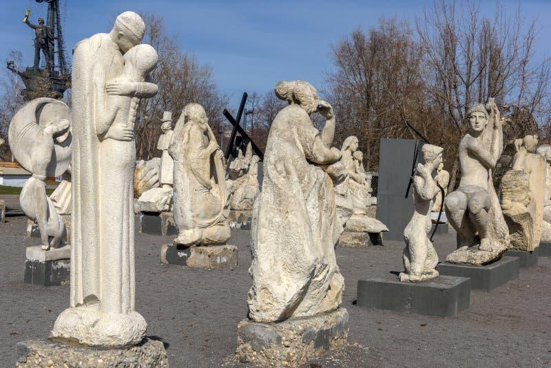 Rzeźbi Parkowego Museon, Wiele biel rzeźby pod otwartym niebem obraz royalty free