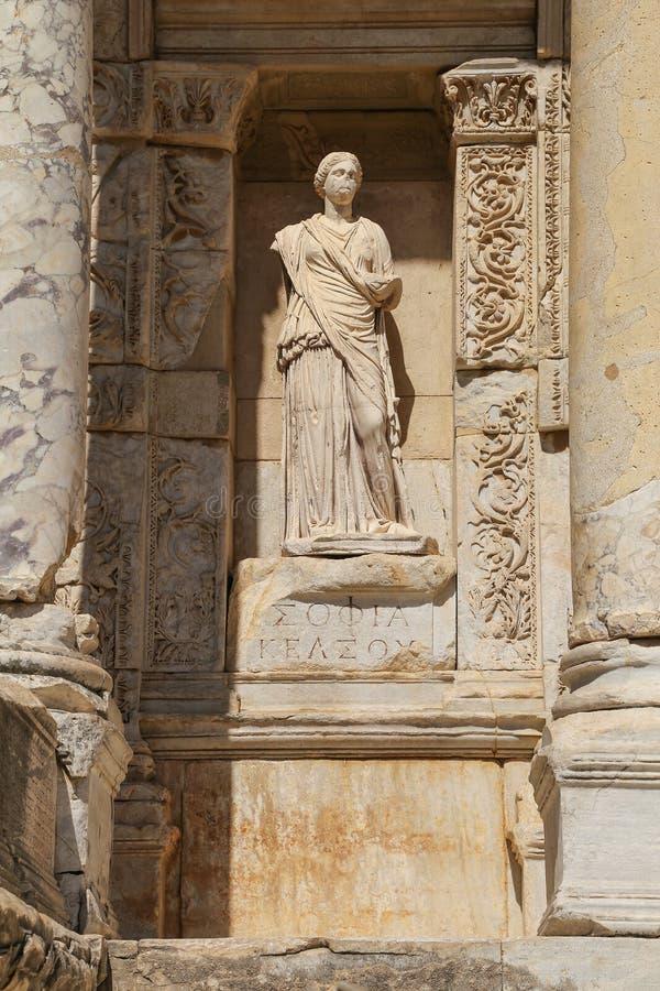 Rzeźbi w archeologicznym miejscu antyczny Ephesus, Turcja zdjęcia stock